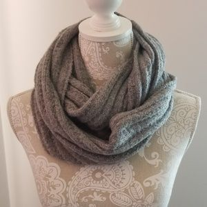 Gap Boucle Double Charcoal Infinity Scarf